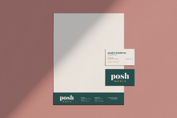 Posh media stationery mockup