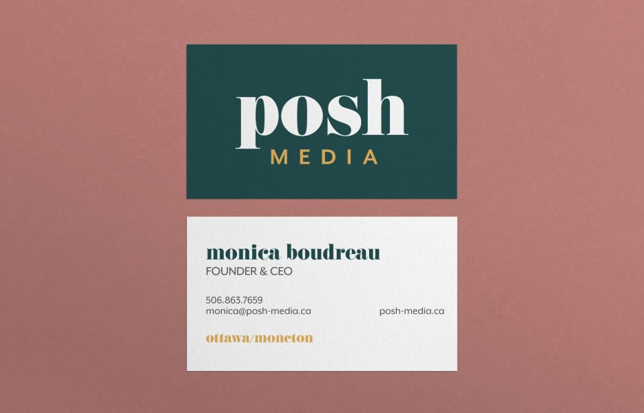posh business cards